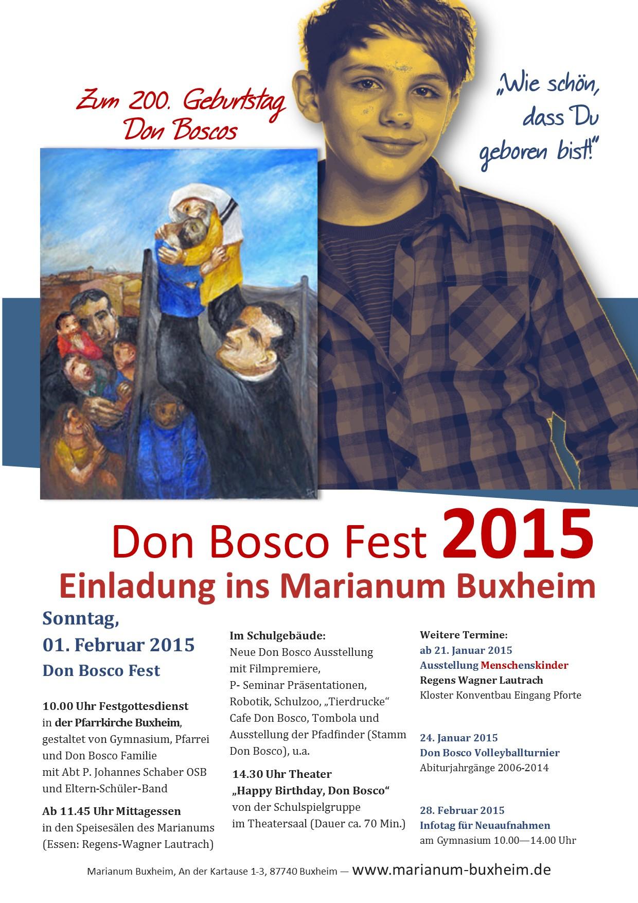 Don Bosco Fest 2015 Buxheim Plakat